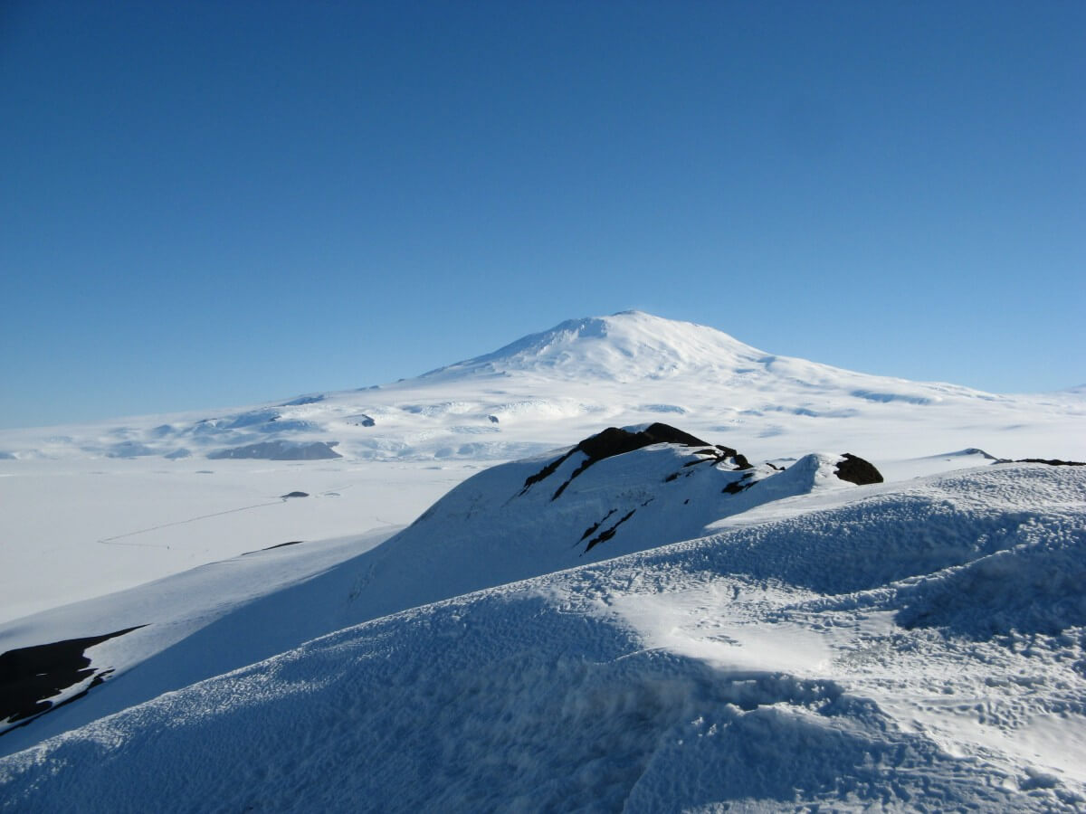 Mt. Erebus, the southern most active volcano.