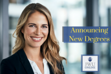 Johnson & Wales University College of Online Education will launch 21 new online degree programs for fall 2018. Learn more about all the undergraduate-, graduate-, and doctoral-level degree programs at JWUOnline.edu!