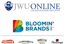 JWU Online College of Online Education logo, Bloomin' Brands Inc logo, Outback Steakhouse logo, Carrabba's Italian Grill logo, Bonefish Grill logo, Fleming's Prime Steakhouse & Wine Bar logo
