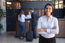 female hotel manager