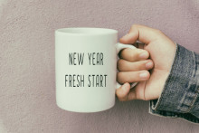 new year fresh start mug