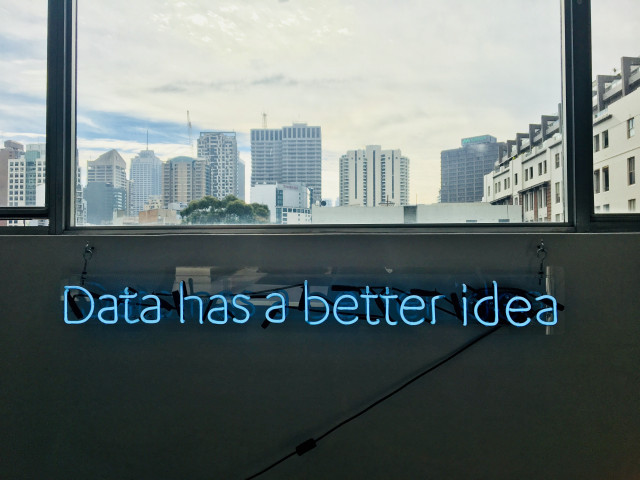 data has a better idea, urban city in horizon, urban city in horizon with data has a better idea in neon light, data analytics, data analyst