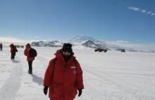 Student Karen Duey in Antarctica