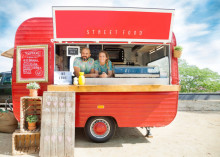 couple in food truck