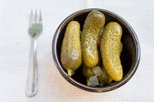 small plate of pickles