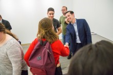Mayor James Diossa, Central Falls Rhode Island Mayor James Diossa, James Diossa meeting with students