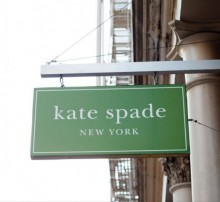 kate spade sign, business sign, green business sign, fashion store sign, kade spade new york, kade spade new york sign