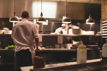kitchen staff, restaurant staff in kitchen, restaurant staff at work, kitchen manager