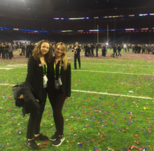 JWU student Sara Patterson is balancing an MBA degree with work in the NFL.